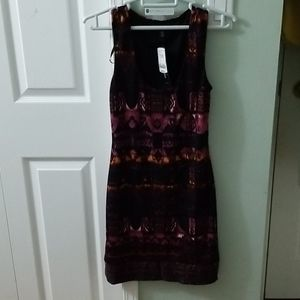 Multicolored Tight FIghted  Dress